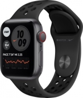 Apple Watch Nike SE (GPS) 40mm space grau mit Sportarmband anthrazit/schwarz (MYYF2FD)
