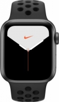Apple Watch Nike Series 5 (GPS) 40mm Aluminium space grau mit Sportarmband anthrazit/schwarz (MX3T2FD)