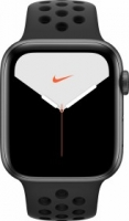 Apple Watch Nike Series 5 (GPS + Cellular) 44mm Aluminium space grau mit Sportarmband anthrazit/schwarz (MX3F2FD)