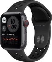 Apple Watch Nike Series 6 (GPS + Cellular) 40mm Aluminium space grau mit Sportarmband anthrazit/schwarz (M07E3FD)