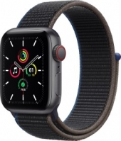 Apple Watch SE (GPS + Cellular) 40mm space grau mit Sport Loop kohlegrau (MYEL2FD)
