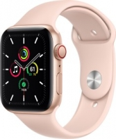 Apple Watch SE (GPS + Cellular) 44mm gold mit Sportarmband sandrosa (MYEX2FD)
