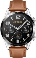Huawei Watch GT 2 Classic 46mm silber mit Lederarmband pebble brown (55024317/55024470)
